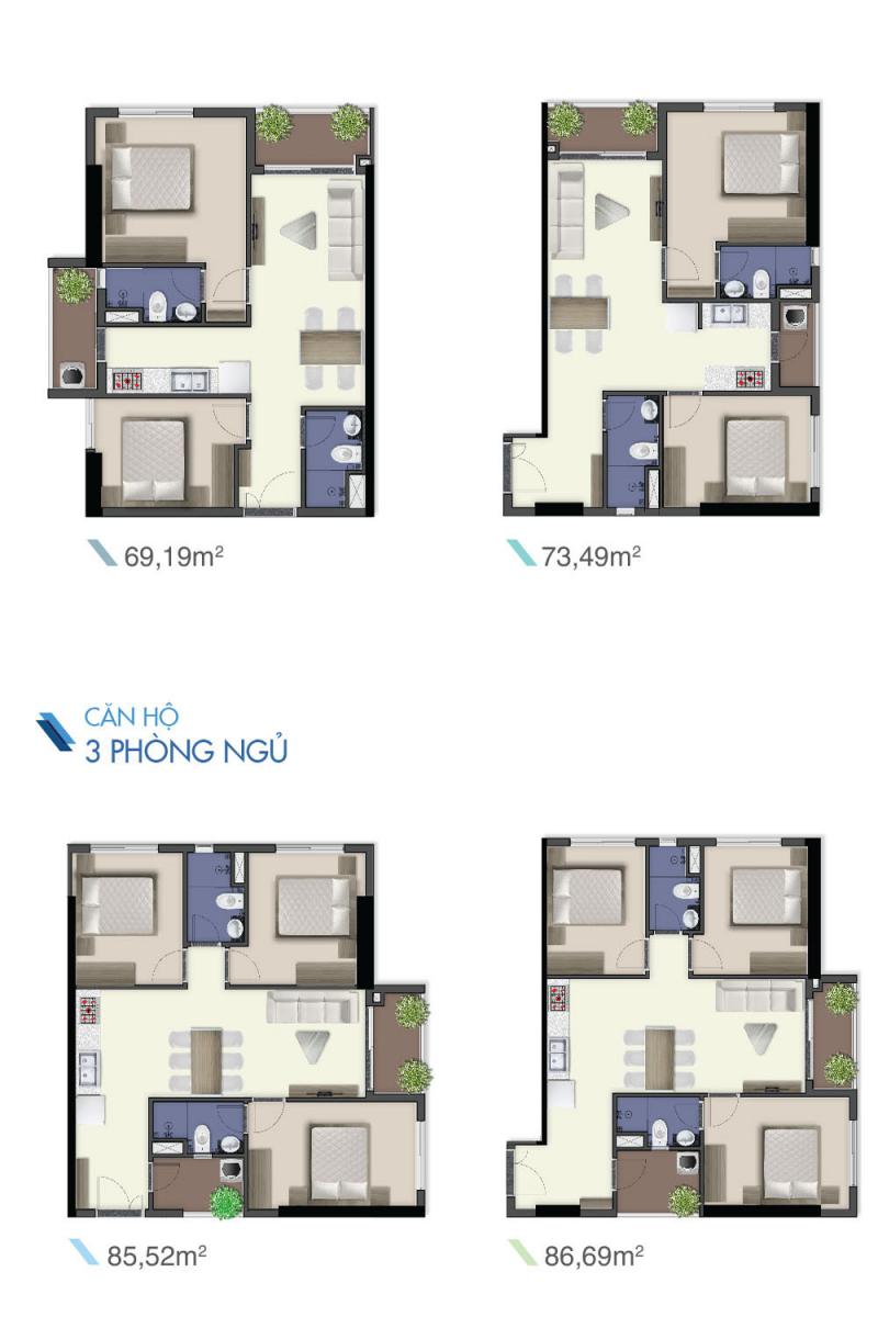 thiết kế căn hộ q7 riverside
