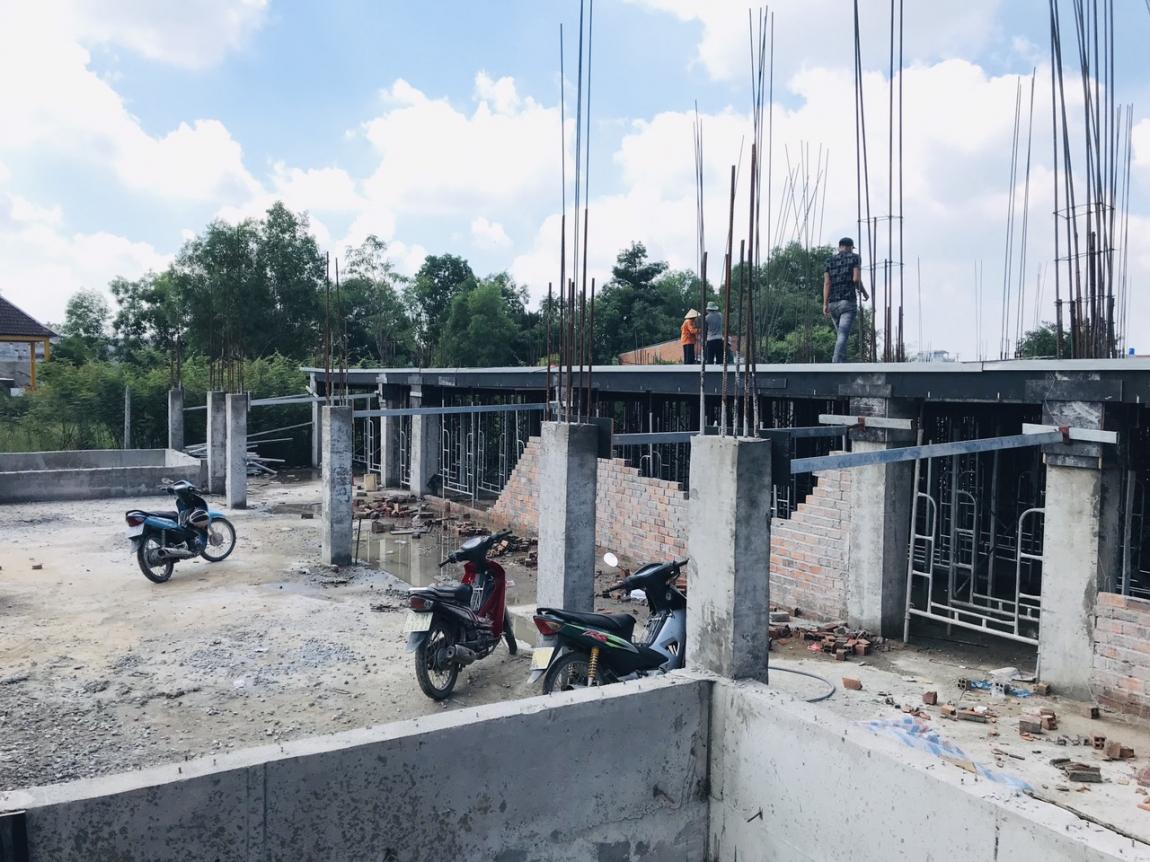 Hình ảnh thực tế tiến độ thi công dự án chung cư mini Tân Đức, cập nhật ngày 22/06/2020.