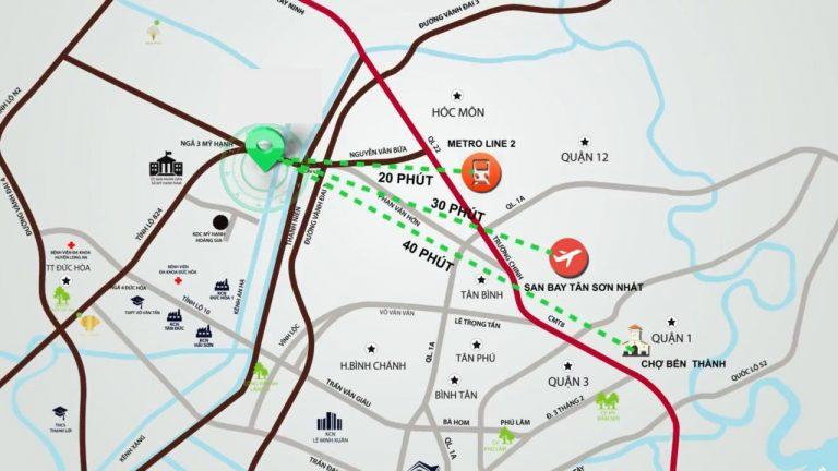Vị trí đắc địa tọa lạc trên mặt tiền tỉnh lộ 824 của Chung Cư mini Xuyên Á 3.