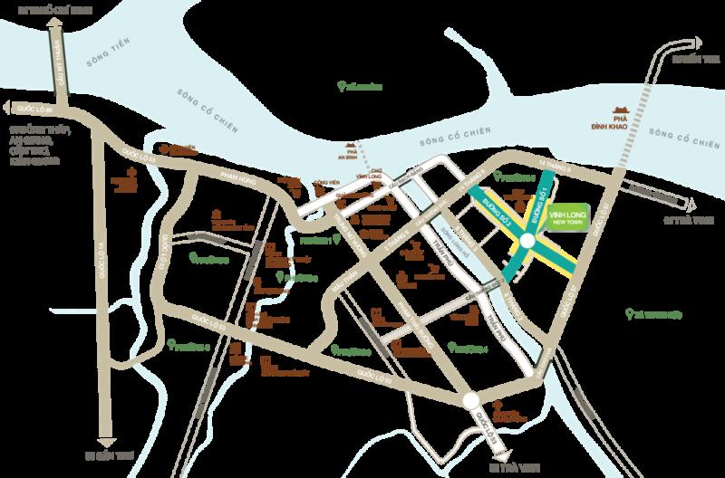 vị trí dự án vĩnh long new town