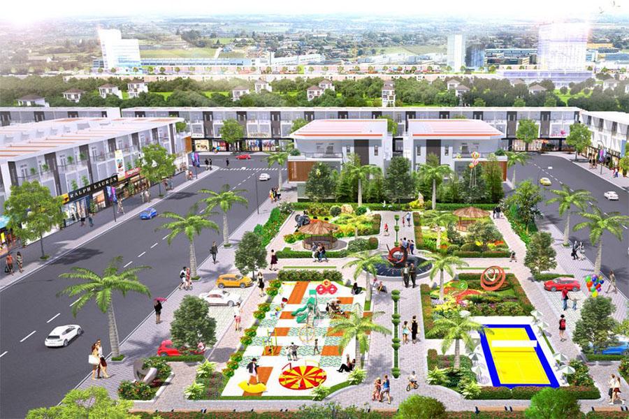 Công viên trung tâm rộng hơn 5000m2 tại dự án Tân Lân Residence