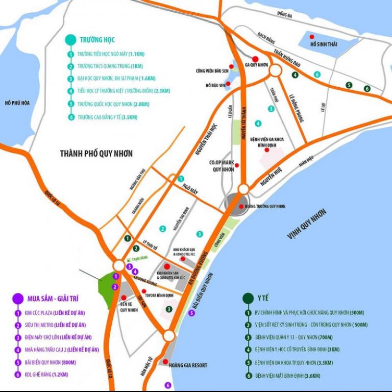 Vị trí dự án condotel Liberty Central Quy Nhơn