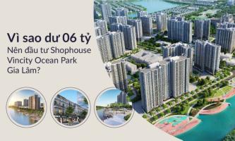 Vì sao dư 06 tỷ nên đầu tư Shophouse Vincity Ocean Park Gia Lâm